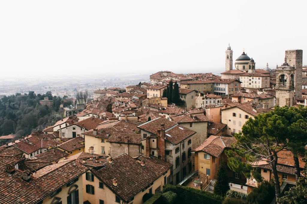The Rocca, Bergamo, citta alta. Italy, Lombardy. Italia, Lombardia.