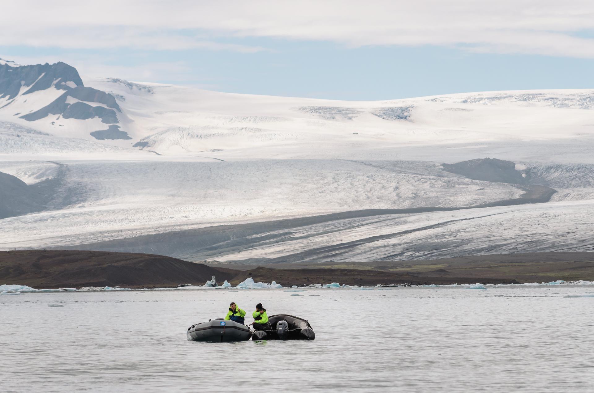 A view of the Breiðamerkurjökull glacier, Jokulsarlon glacier, ice, iceland