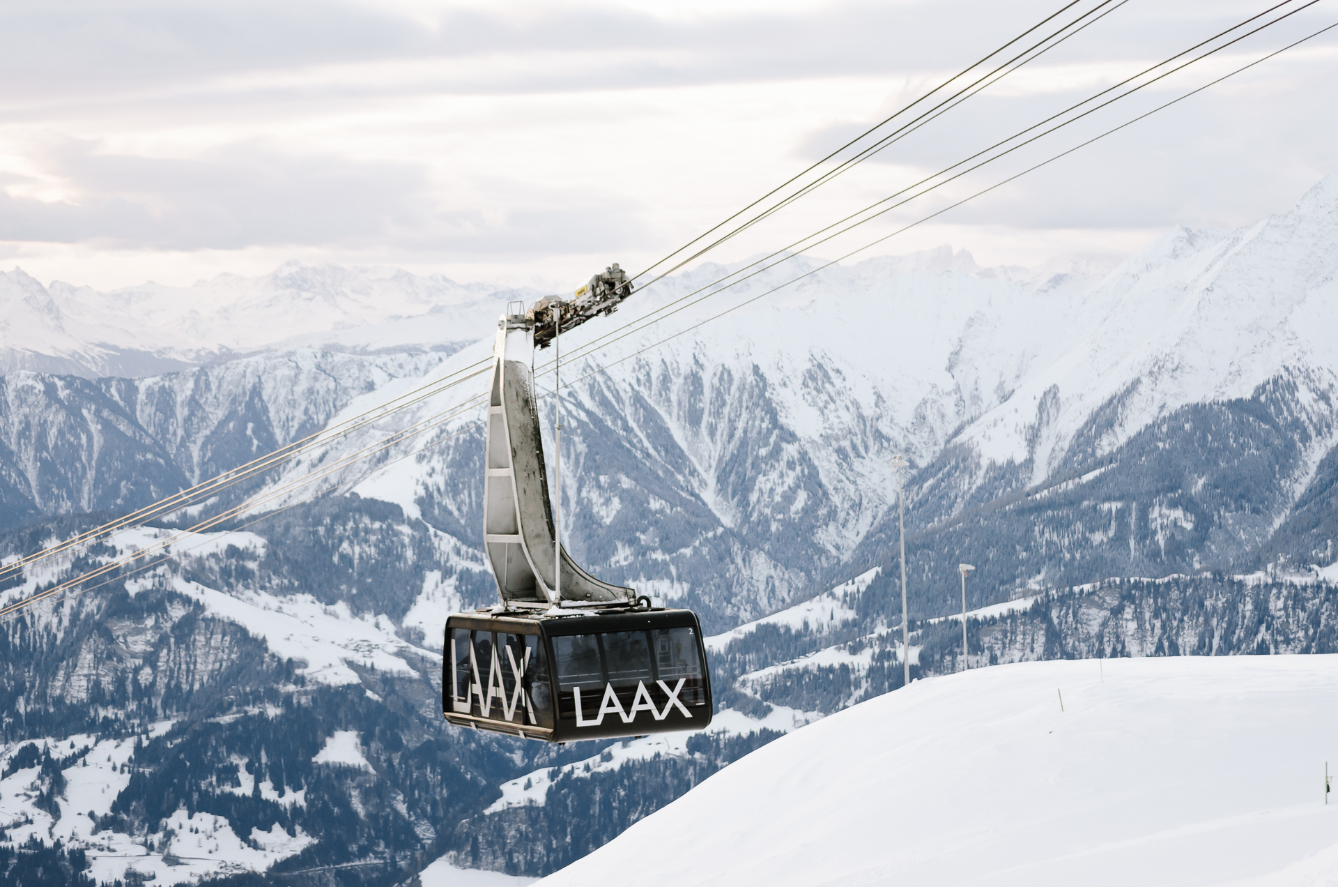 A Gondola in Laax, Graubunden, Switzerland