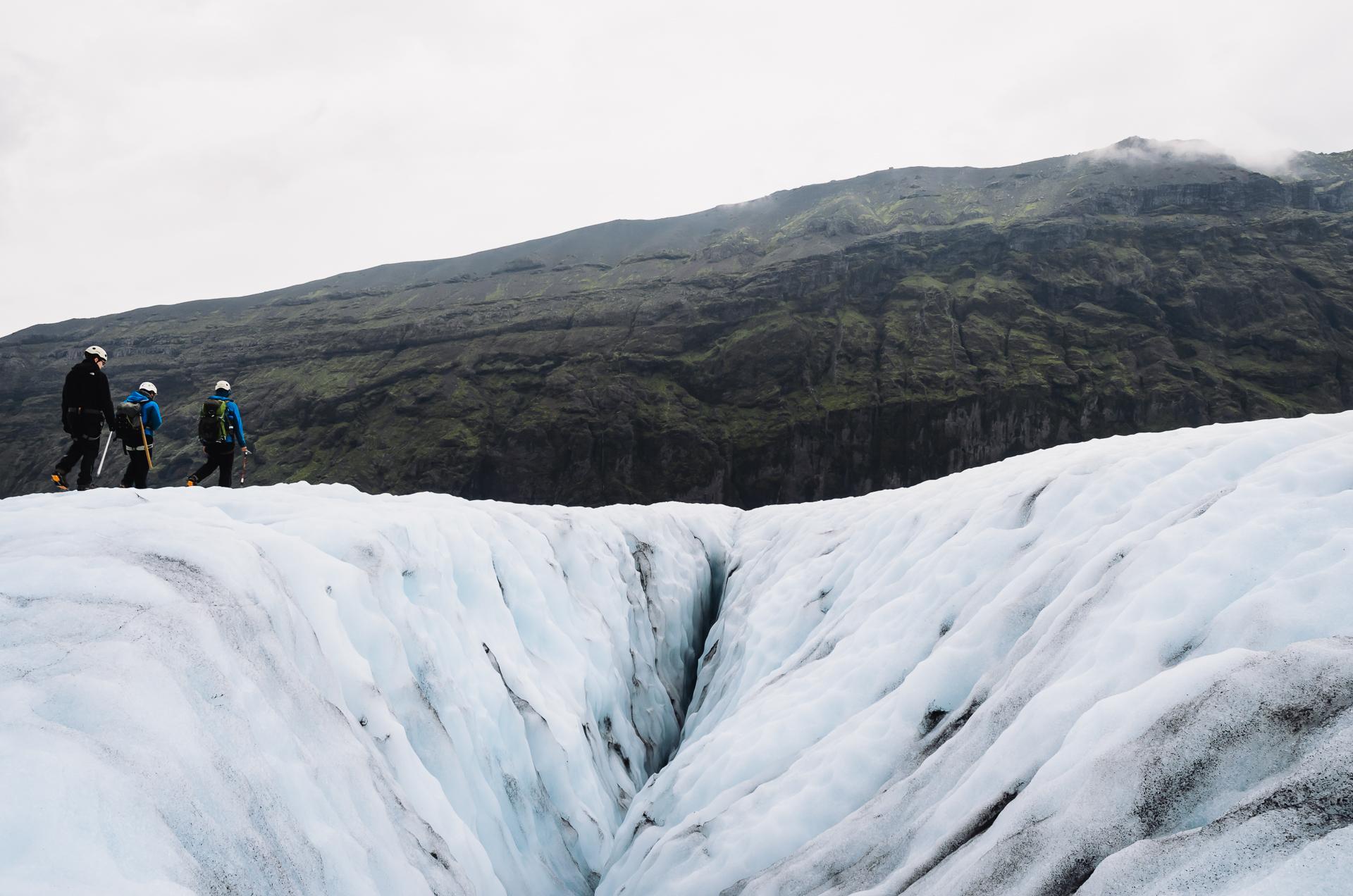 Skaftafell - Virkisjökull, glacier, blue ice, glacier guides