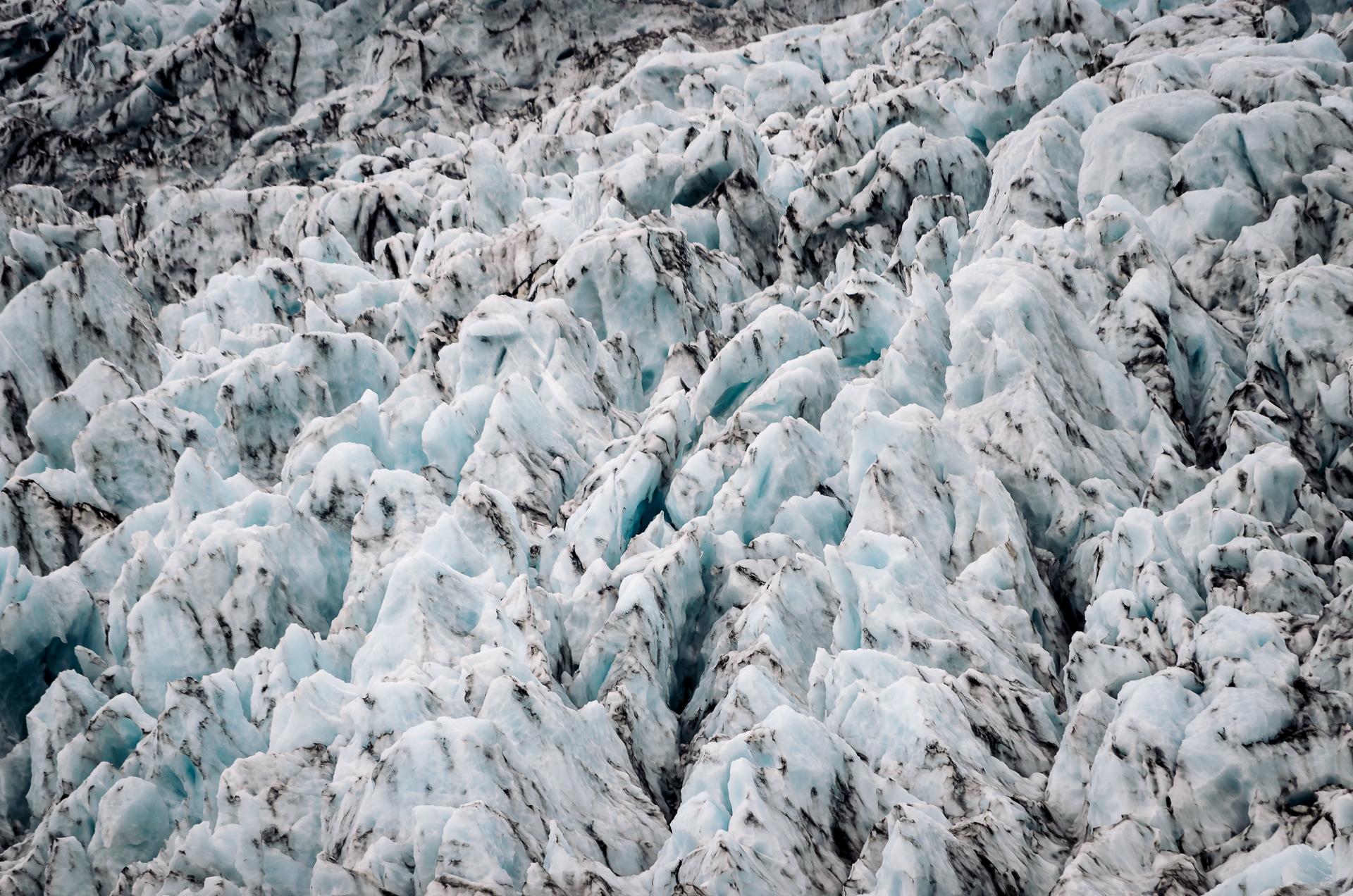 Virkisjökull - Skaftafell, Iceland, blue ice, glacier