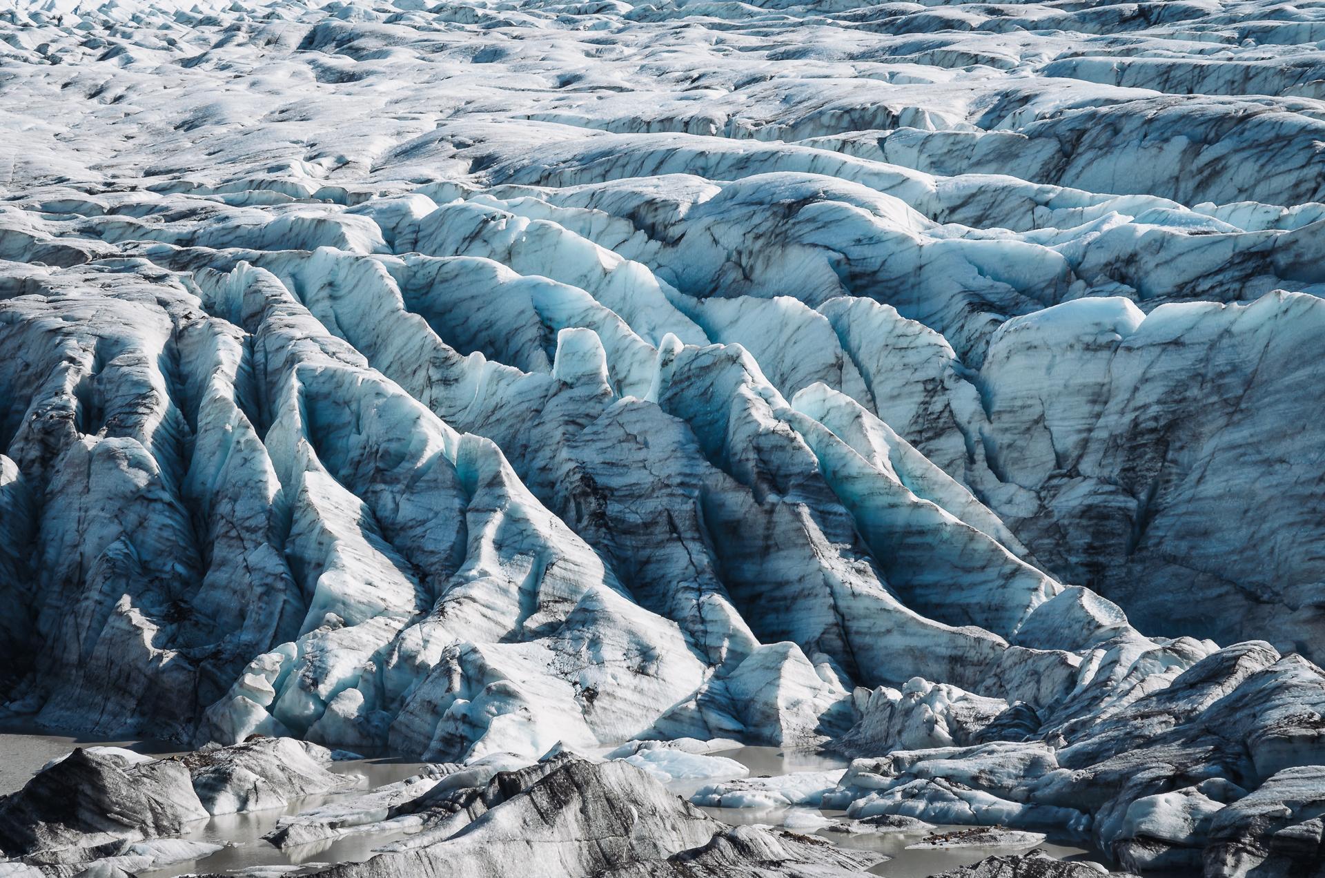 Svínafellsjökull, Skaftafell, glacier, blue ice