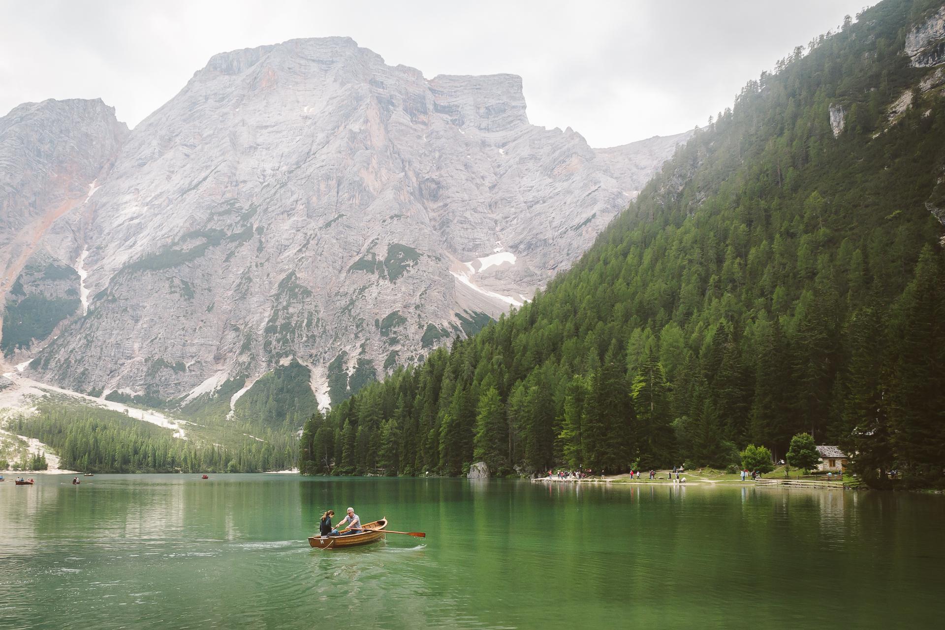 Lago di Braies, Italy, Dolomiti, Dolomites, South Tyrol
