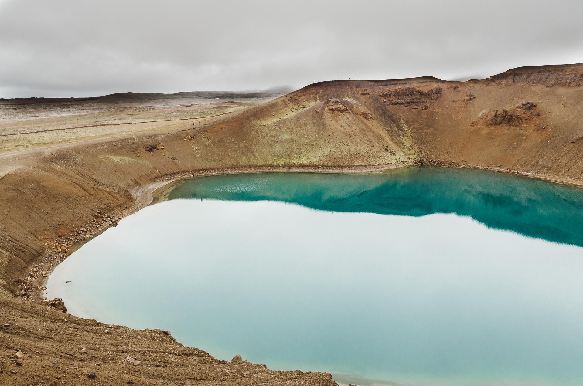 Víti Crater, Krafla, Myvatn. North iceland