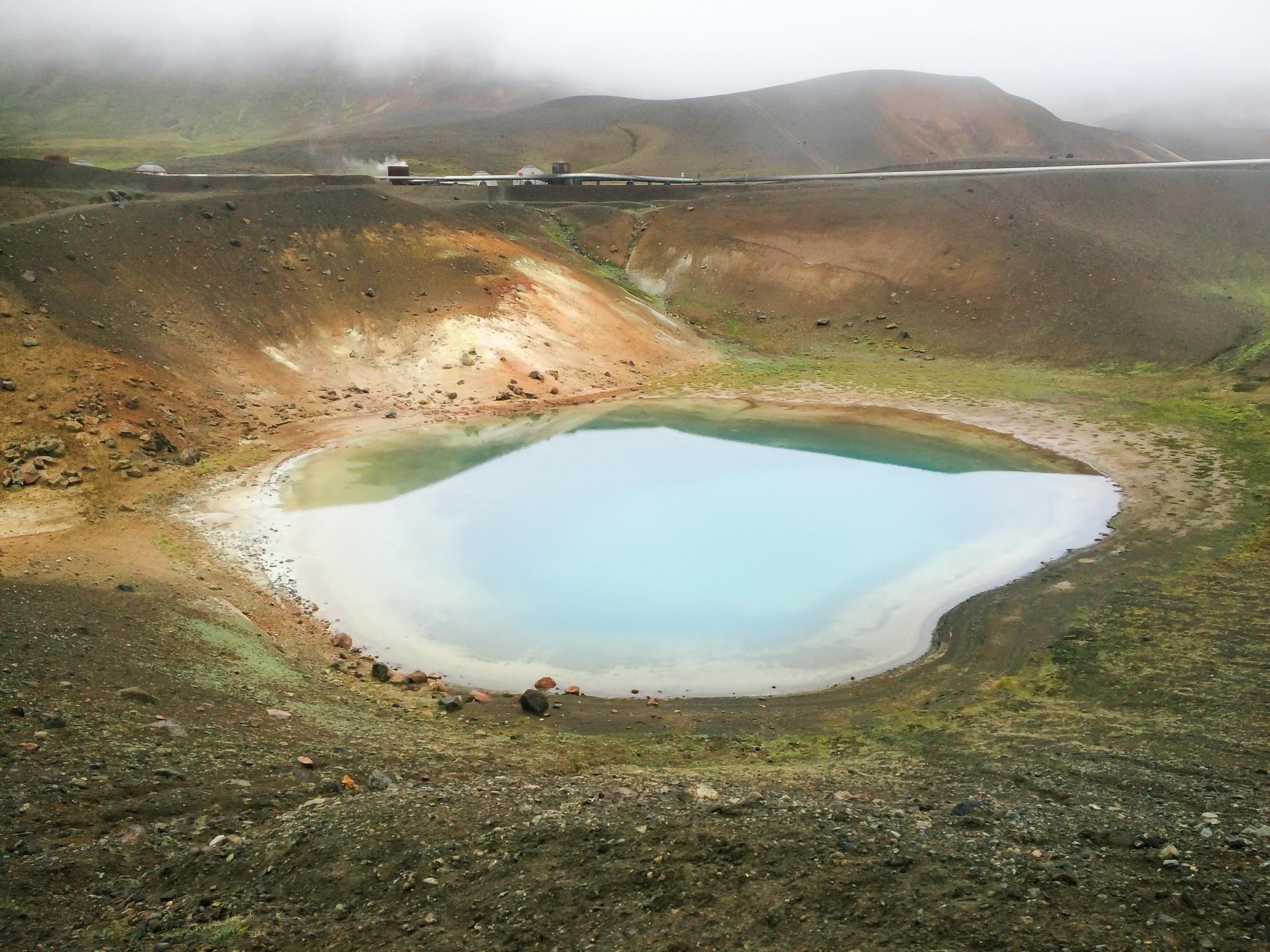 Viti crater, Krafla, Myvatn, North Iceland