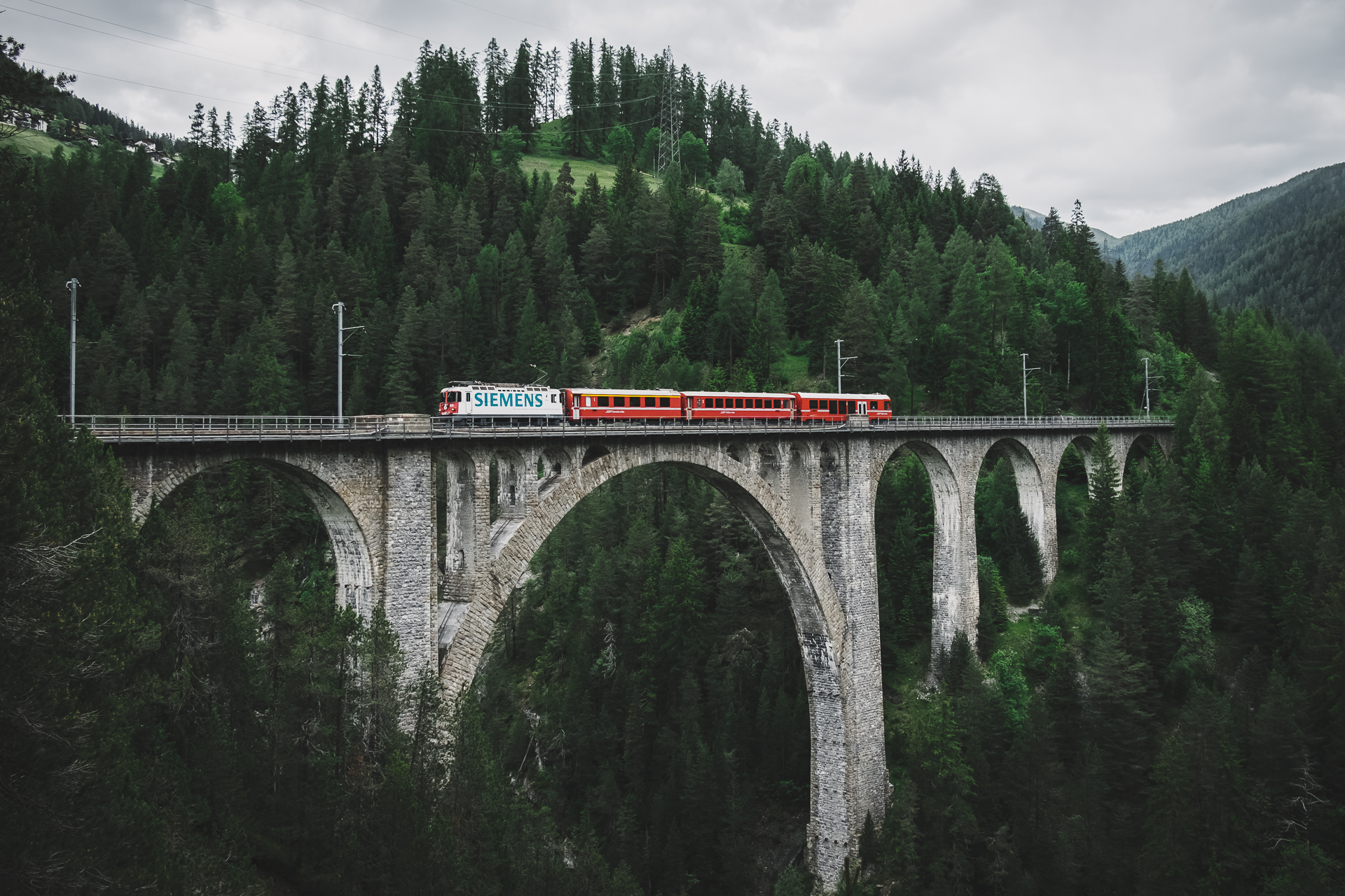 Wiesnerviaduct, Graubunden, Switzerland, Bergun