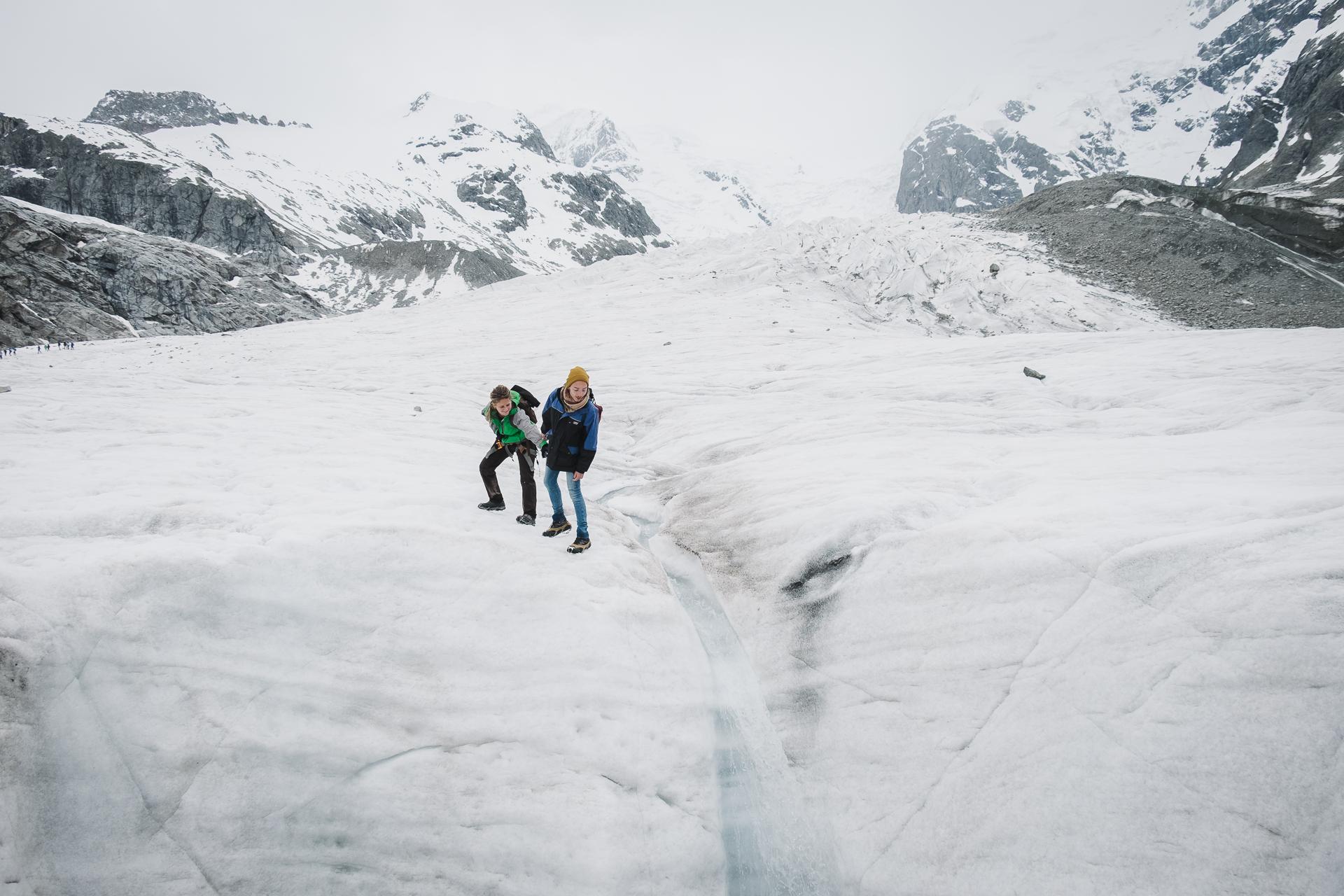 morteratsch glacier, Graubunden, Engadin St Moritz