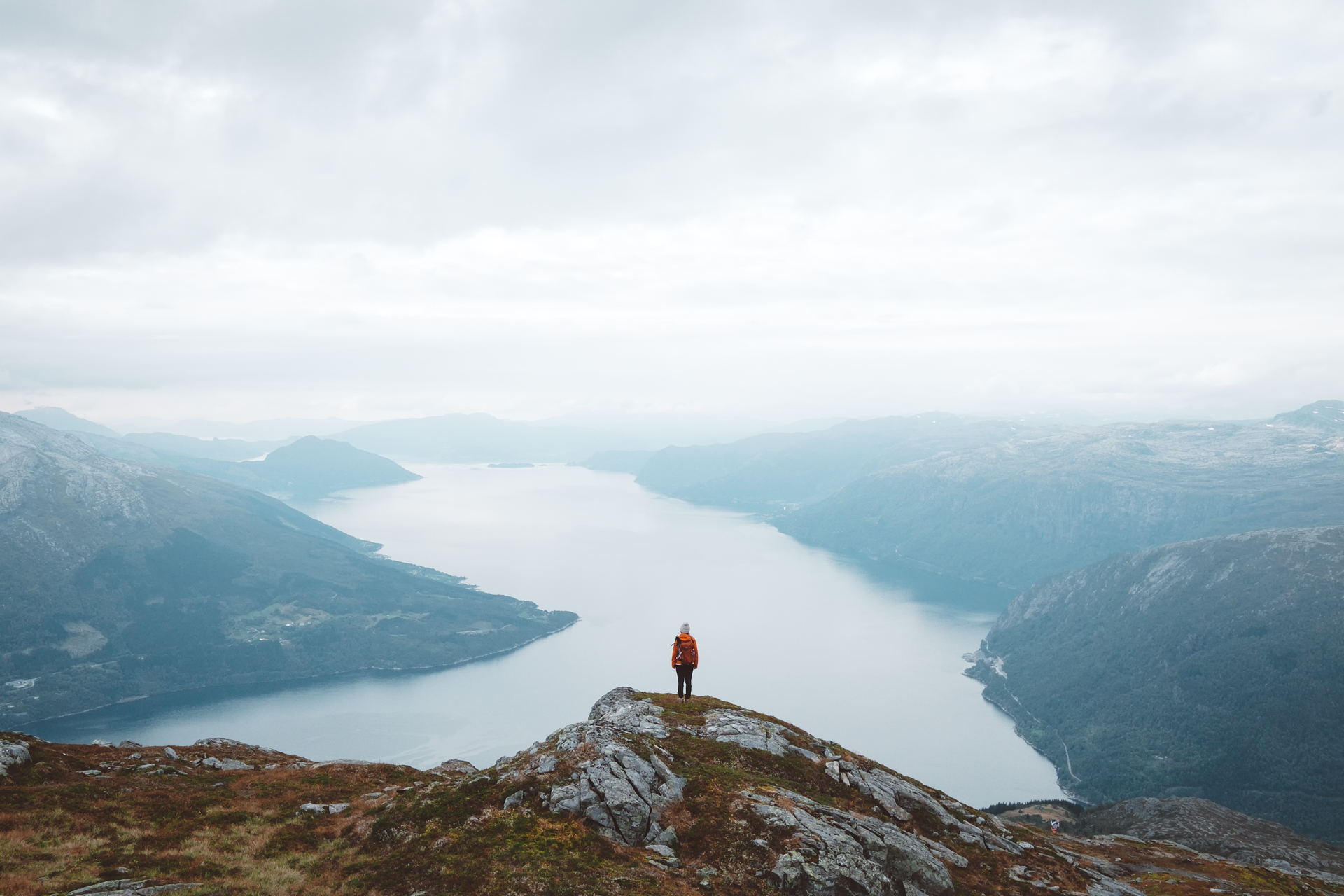 Mount Oksen, Hardangerfjord, Norway, Fjord