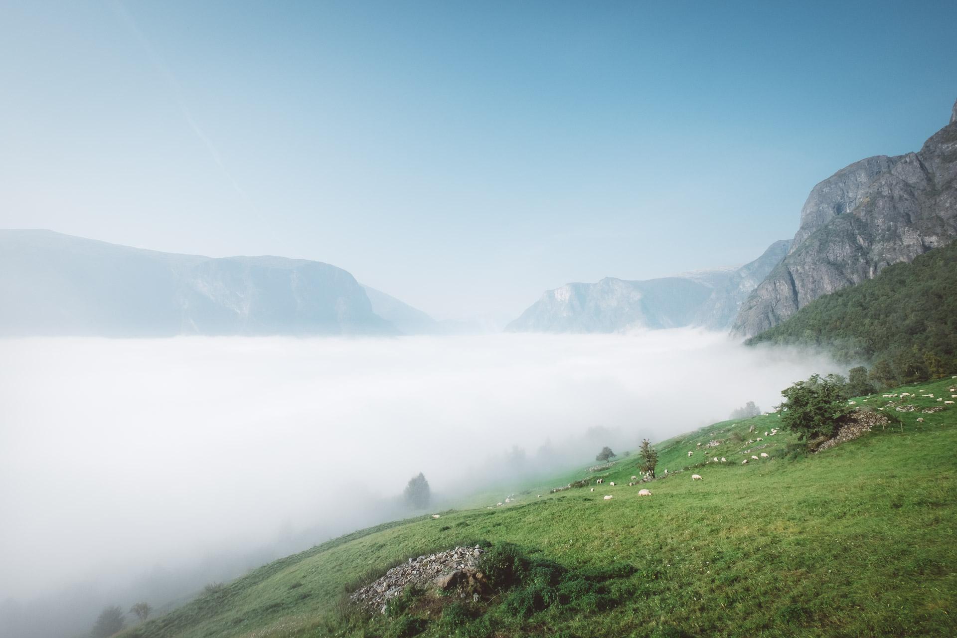 Aurlandsfjellet, Fjords, Norway, Sognefjord, Aurland, Laerdal