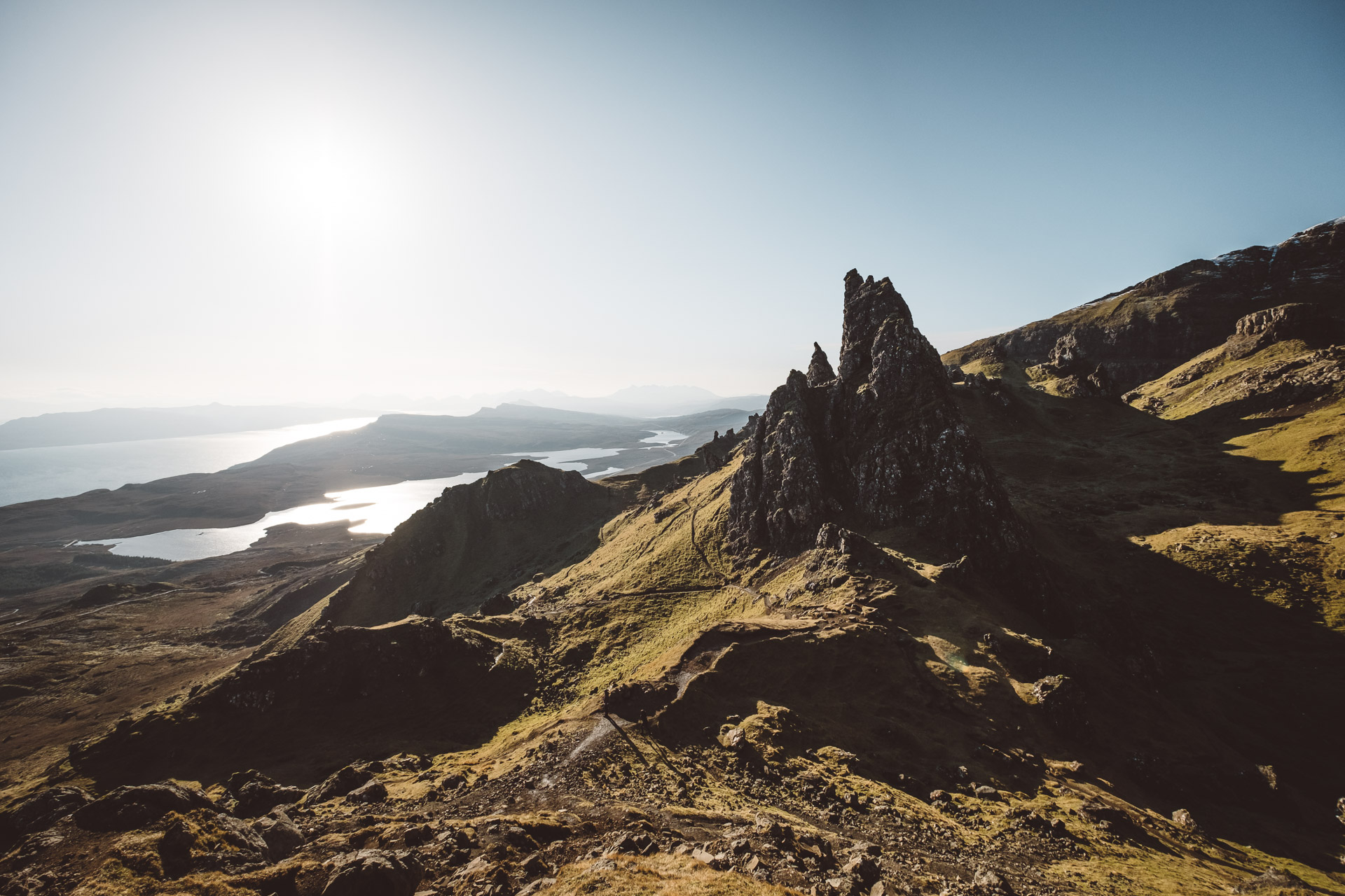 Scotland, Isle of Skye, Old man of Storr